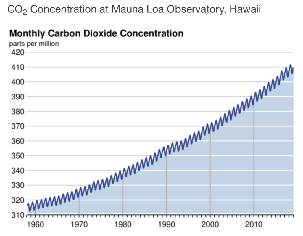 Atmospheric CO2 Concentration since 1960