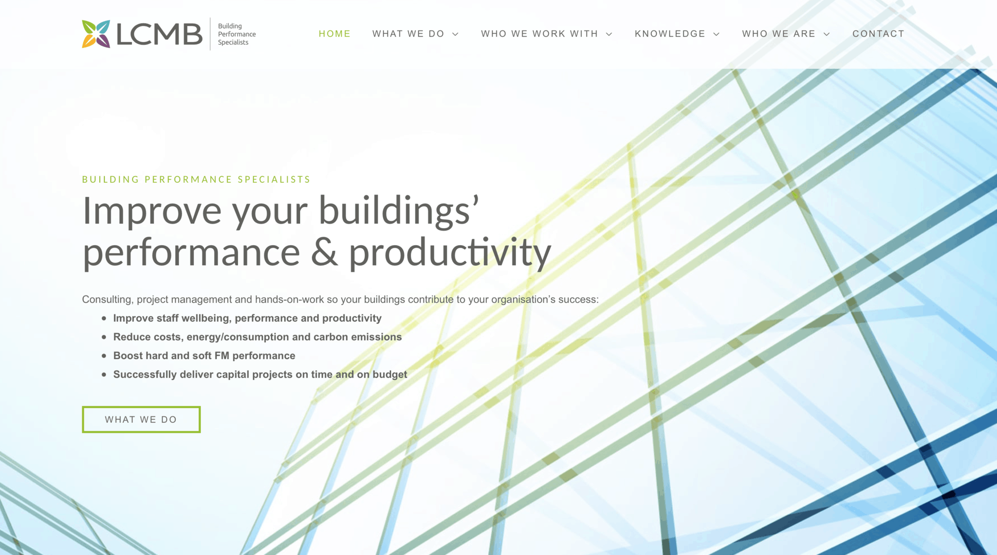 LCMB Buildings Performance Website