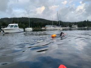 John swimming in water